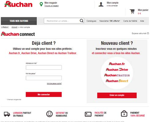 comment inscrire un compte sur auchan. Black Bedroom Furniture Sets. Home Design Ideas