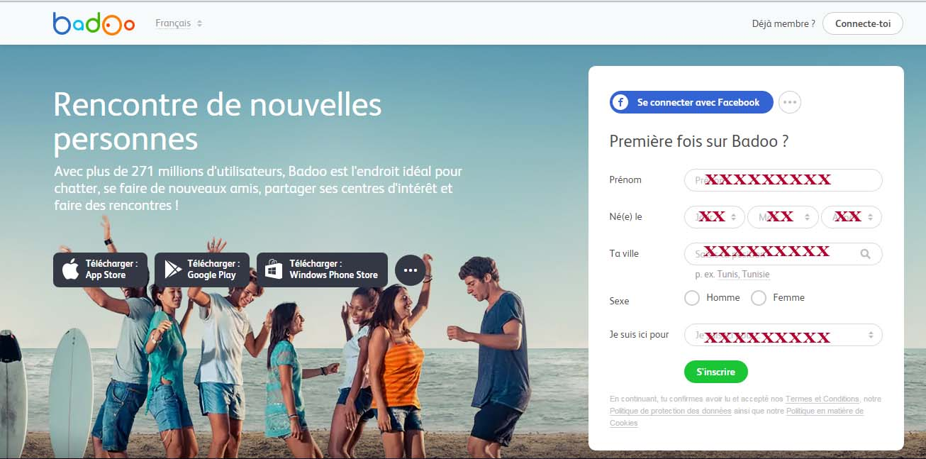 Badoo gratuit sans inscription