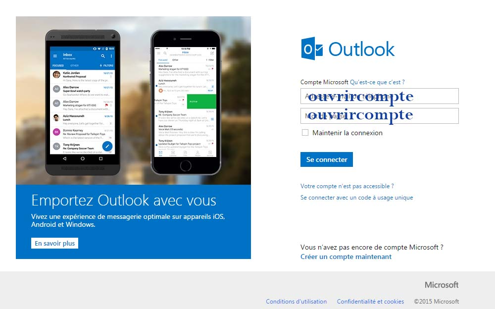 hotmail sign in gratuit