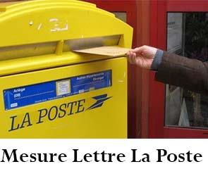 mesure lettre la poste