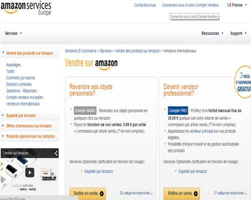 créer compte pro Amazon