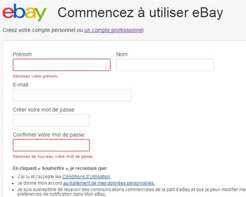 ouvrir compte pro sur ebay