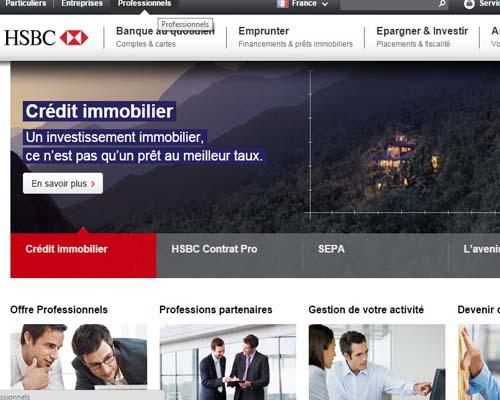 accès compte pro hsbs en ligne