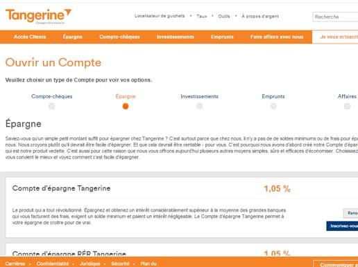 inscription compte tangerine