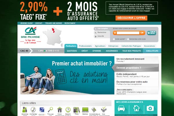 compte crédit agricole brie Picardie