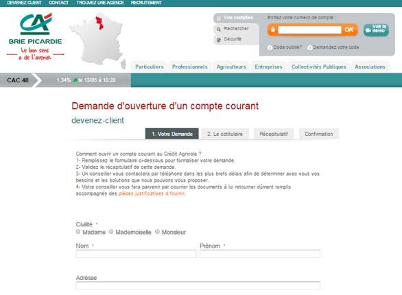 crédit agricole brie Picardie en ligne
