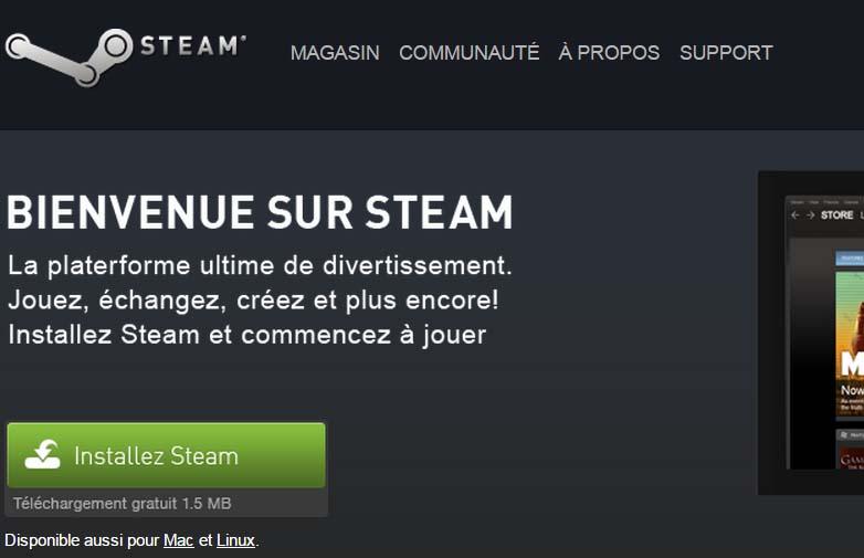 installer steam