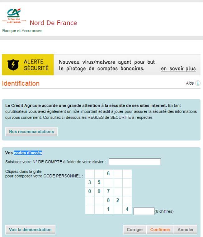 compte Crédit agricole du nord France