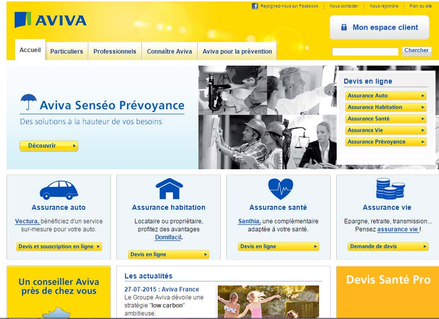mon compte aviva assurance en ligne