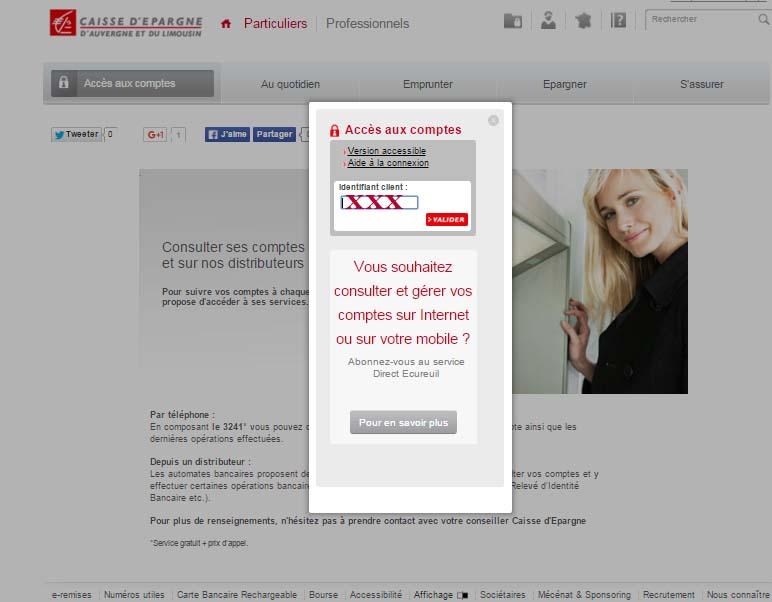 accès caisse depargne en ligne