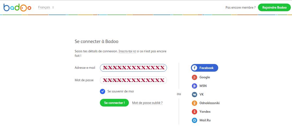 connexion compte badoo france