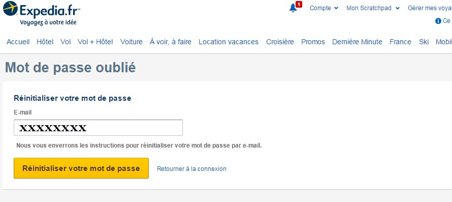 connexion expedia france
