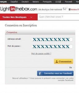 connexion espace client light in the box