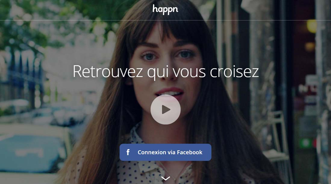 inscription sur Happn app
