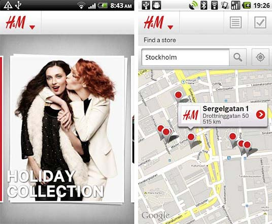 application H&M boutique
