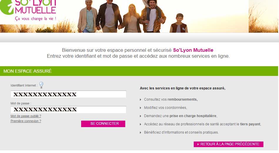 connexion So'Lyon mutuelle en ligne