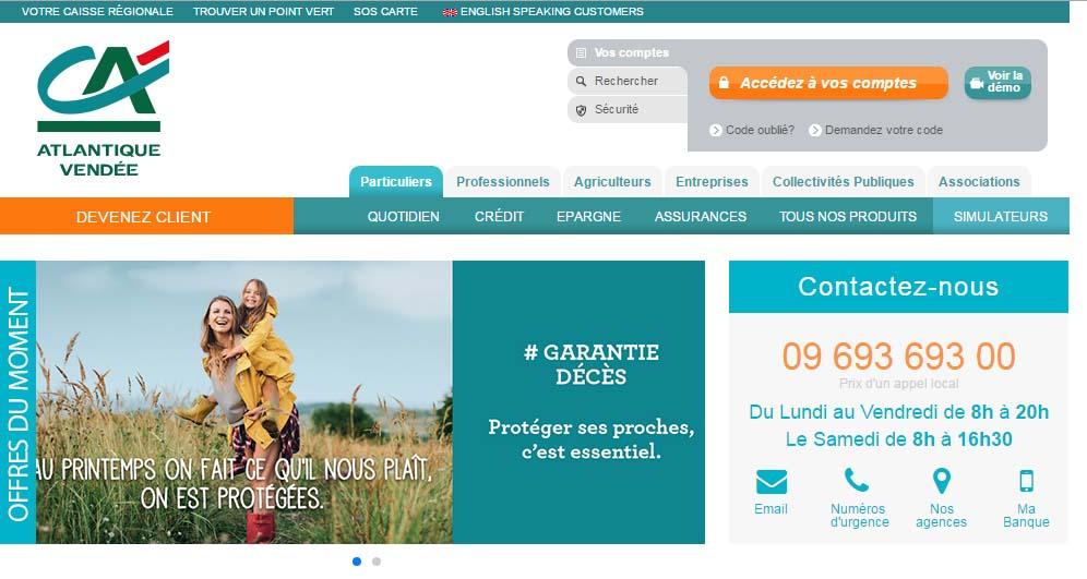 crédit agricole atlantique vendée banque en ligne