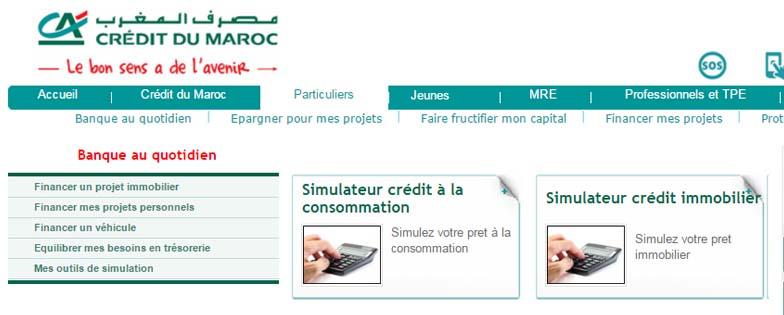crédit du maroc simulateur crédit