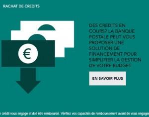 rachat de crédit banque postale