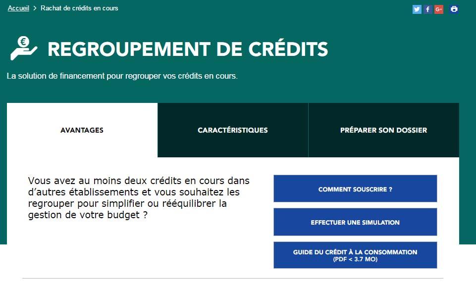 regroupement crédit banque postale