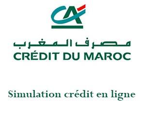 simulation pret crédit du maroc