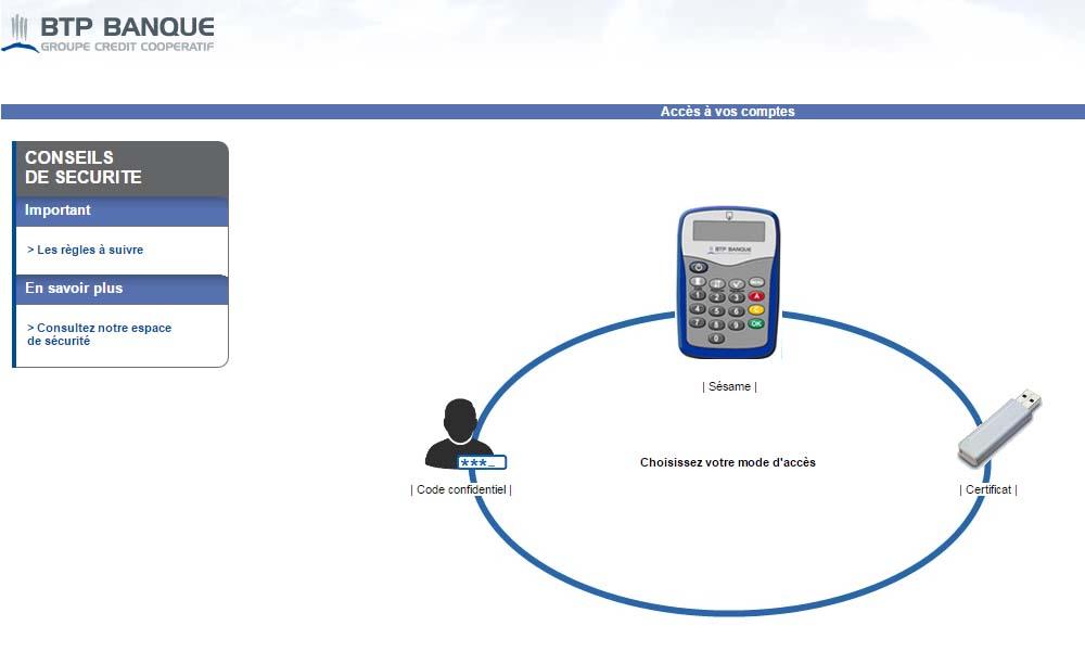 connexion BTP banque