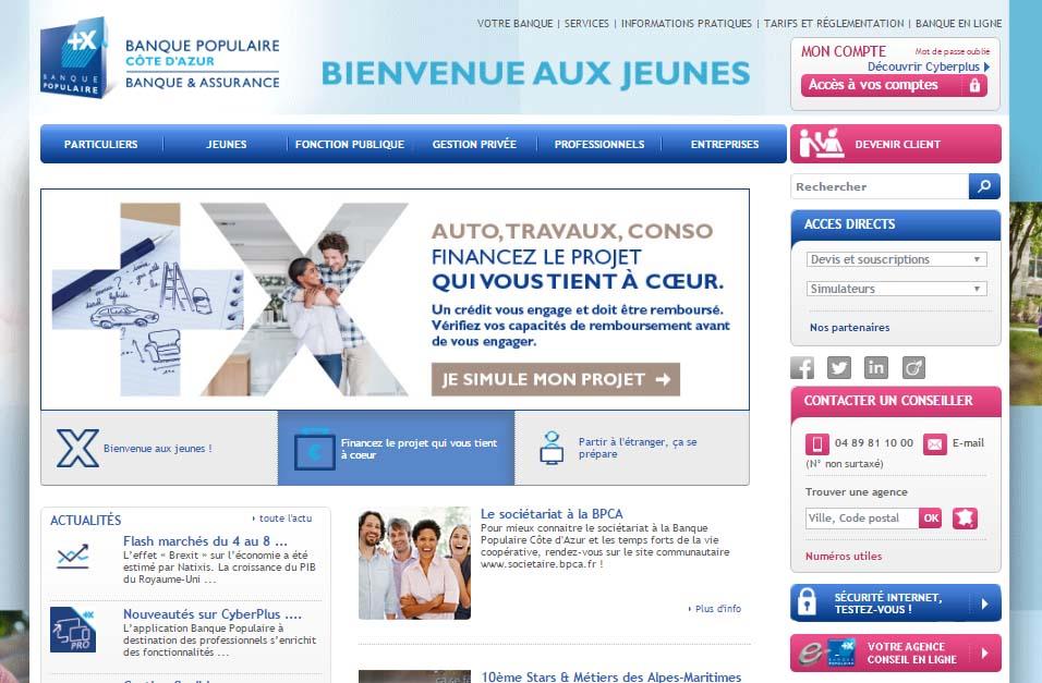 BANQUE POPULAIRE CÔTE D'AZUR MON COMPTE