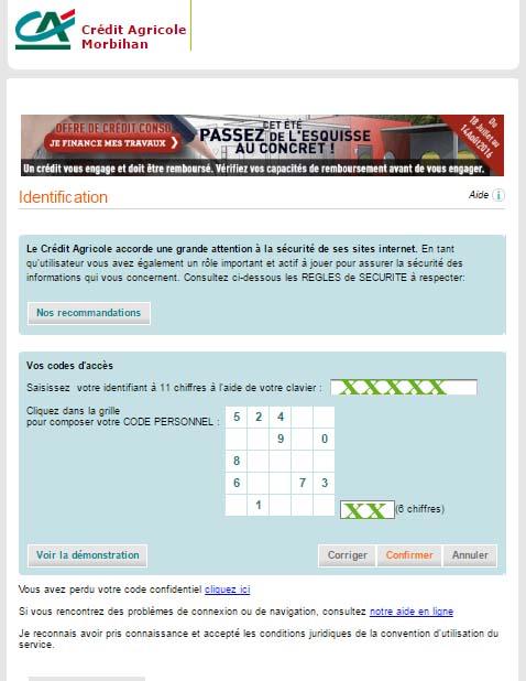 Crédit Agricole du Morbihan compte en ligne