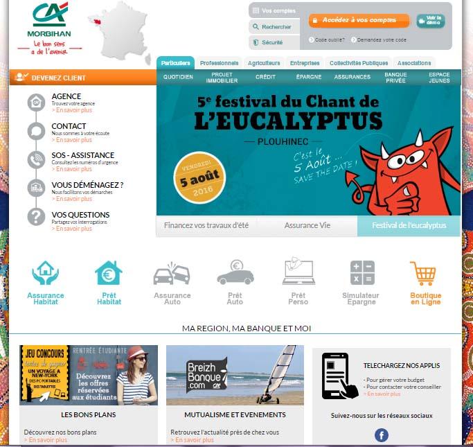 Crédit Agricole du Morbihan mon compte en ligne
