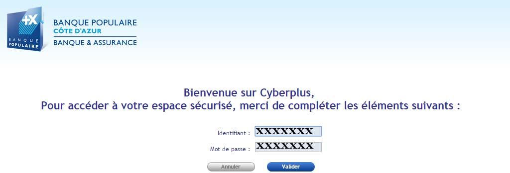 compte cyberplus BPCA en ligne
