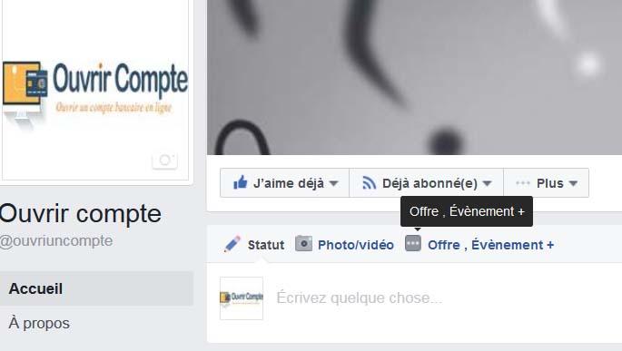 Créer événement facebook en tant que page