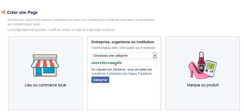 créer page fan facebook