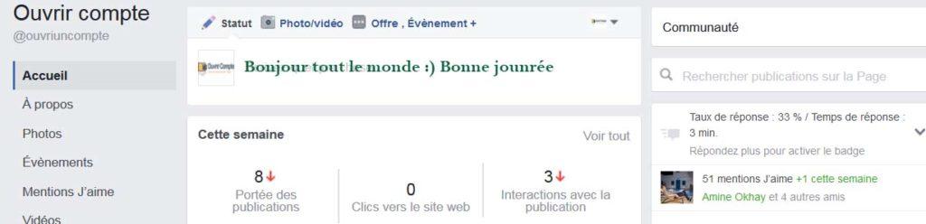 ouverture page fan facebook