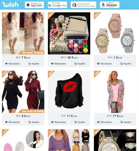 site wish.com shopping online