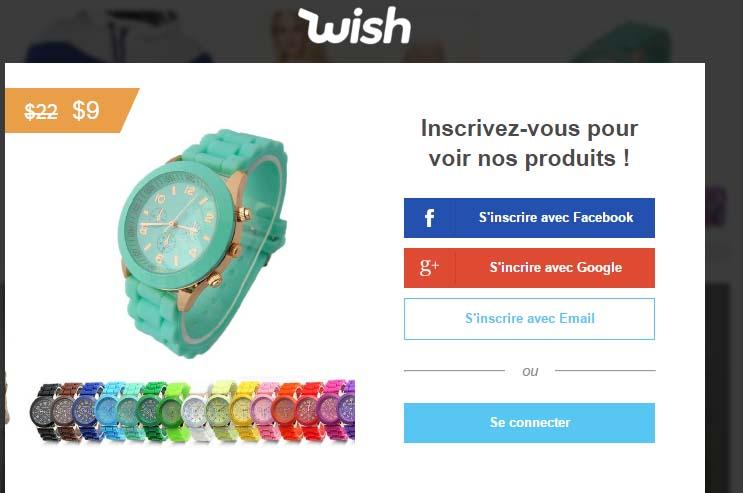 wish français connexion