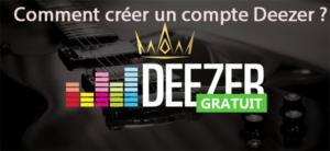 créer un compte Deezer
