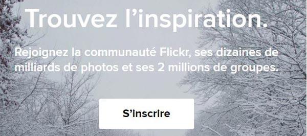 S'inscrire sur flickr sans yahoo