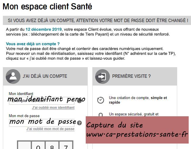 www.ca-prestations-sante.fr mon espace client