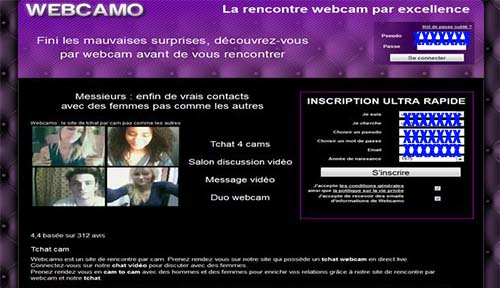 Webcamo.com inscription