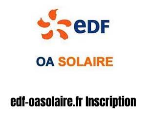 créer compte edf oasolaire