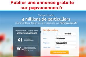 Publier une annonce gratuite sur papvacances.fr
