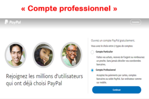 Paypal compte professionnel