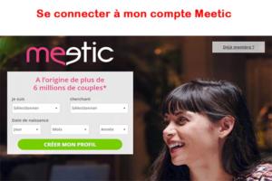 Connexion compte Meetic