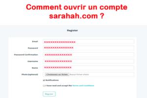 ouvrir compte sarahah.com