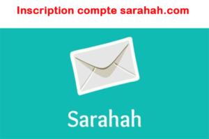Inscription compte sarahah.com