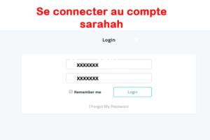 Se connecter au compte Sarahah
