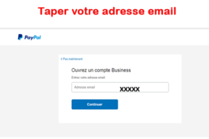 Taper adresse email