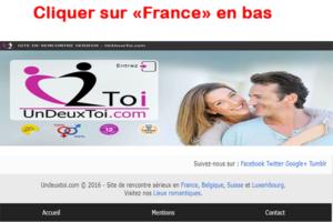 Cliquer sur le pays France