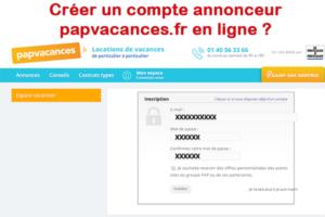 Créer un compte papvacances.fr