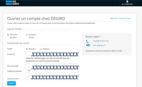 Comment Ouvrir un compte Degiro.fr